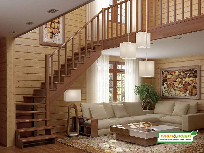 Деревянная лестница k-001m1