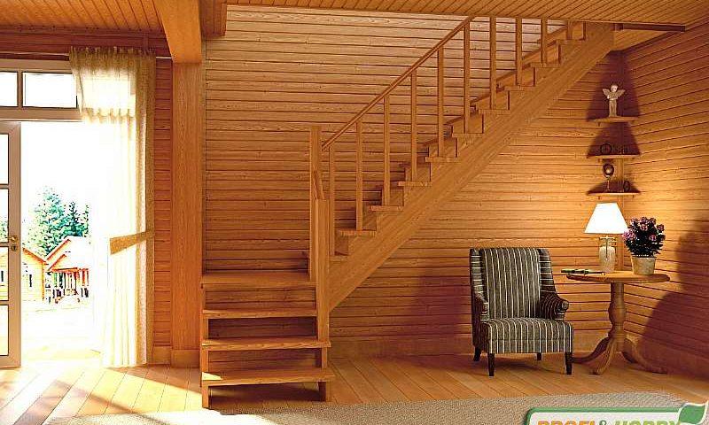 Деревянная лестница К001м