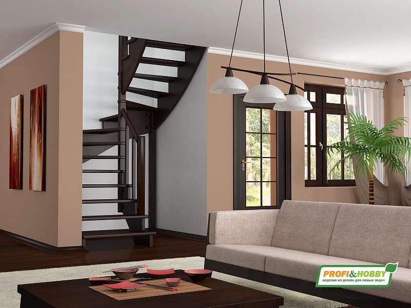Деревянная лестница К003м