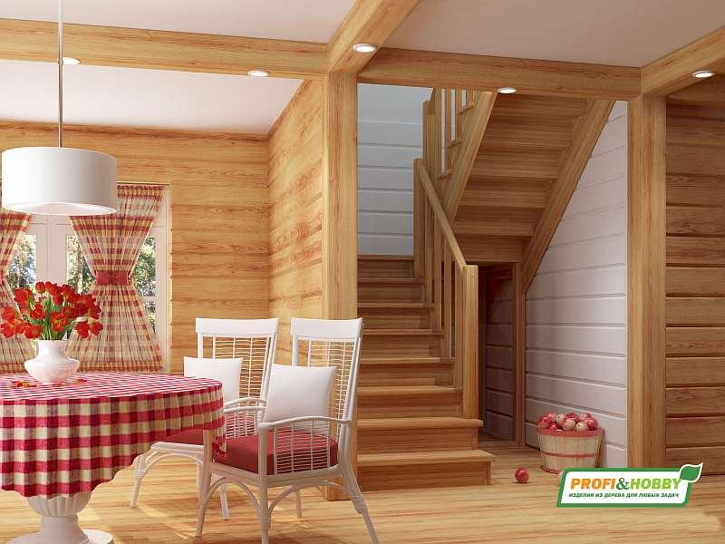 Деревянная лестница К004м