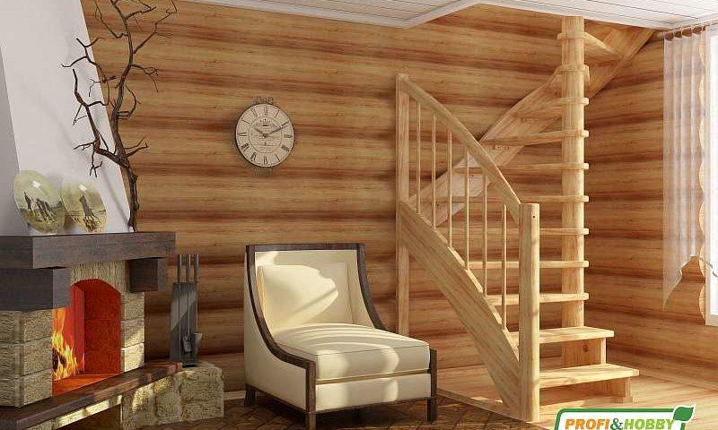 Деревянная лестница К005