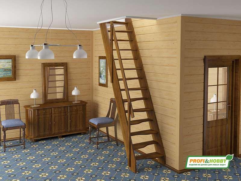 Деревянная лестница К007