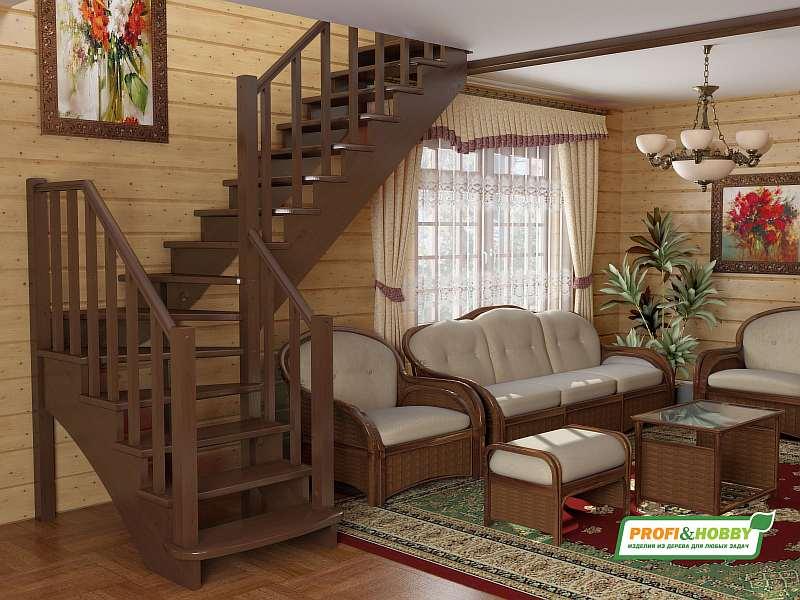 Деревянная лестница К-21М