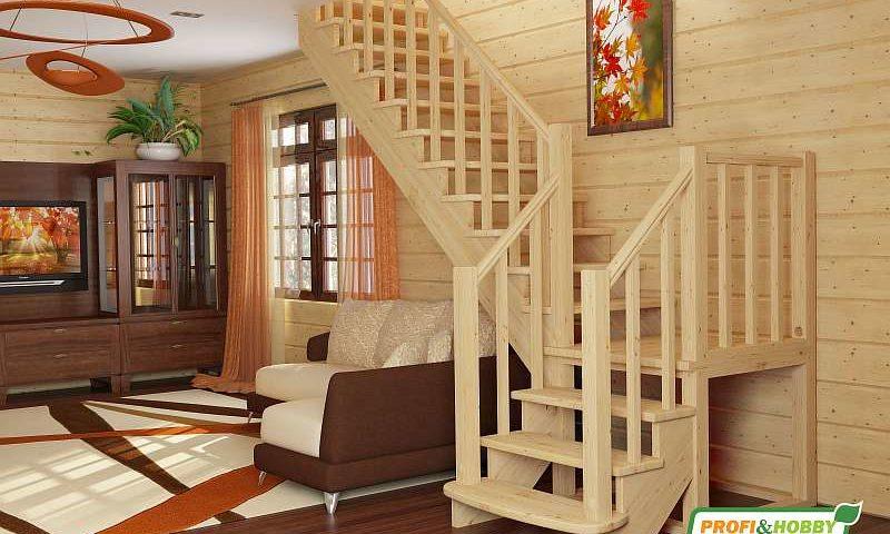 Деревянная лестница К-022М