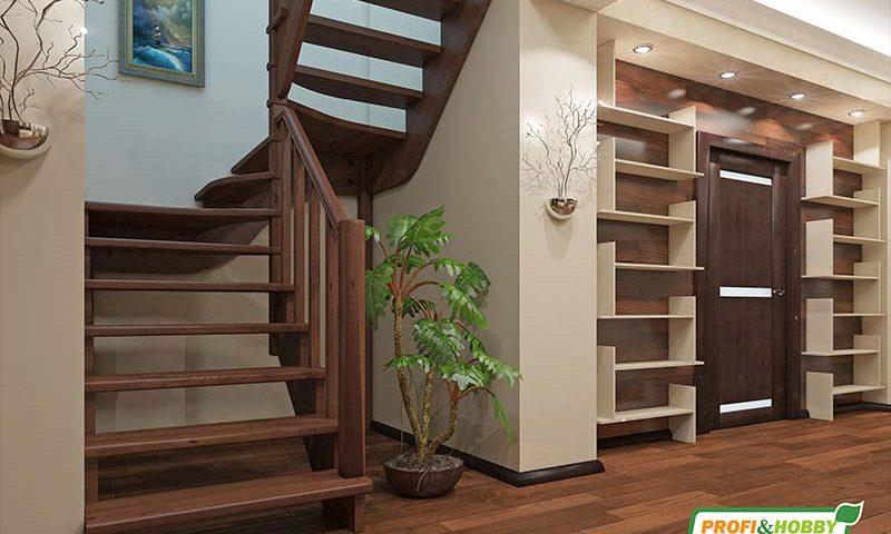 Деревянная лестница К-033М
