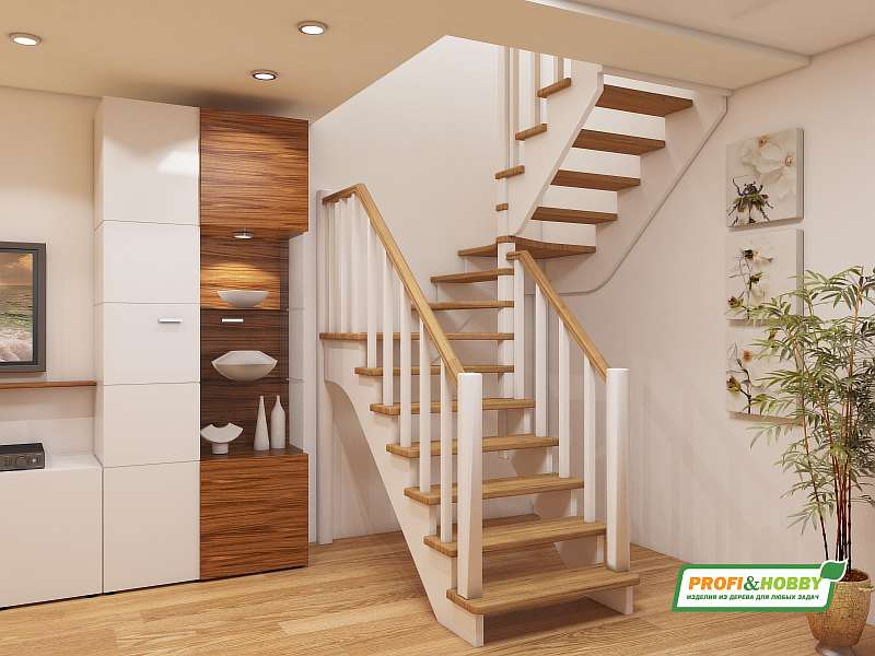 Деревянная лестница К-034М