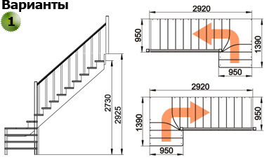 Деревянная лестница К-031М