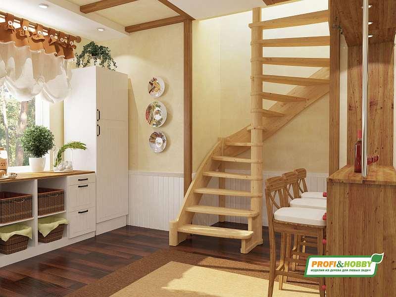 Деревянная лестница ЛС-01М