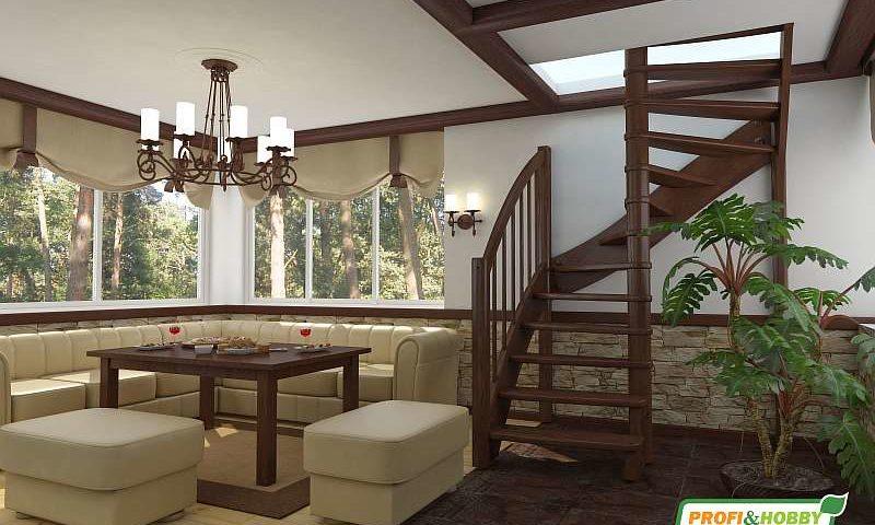 Деревянная лестница ЛС-04М