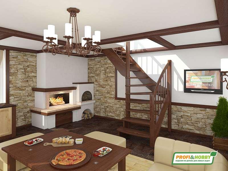 Деревянная лестница ЛС-09М