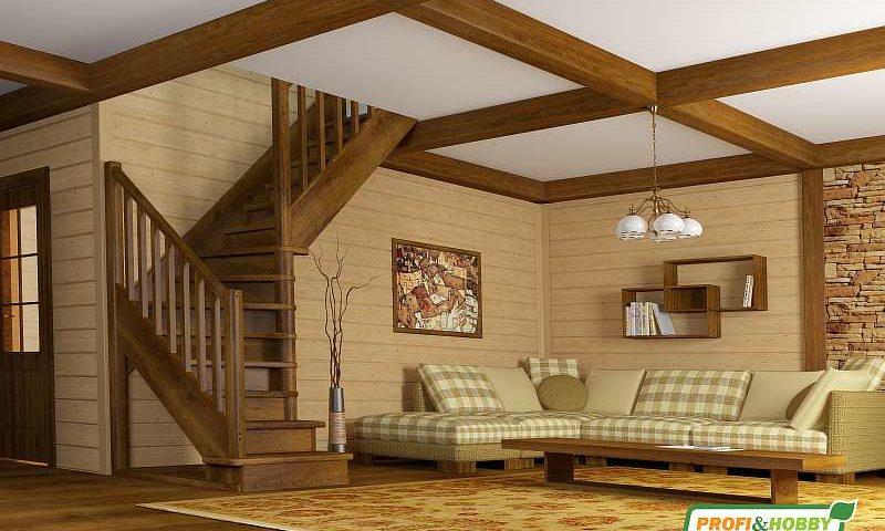 Деревянная лестница ЛС-225м
