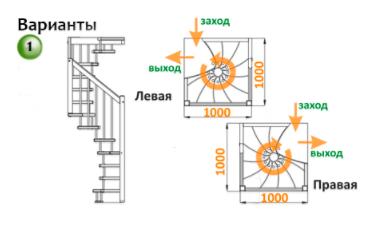 Деревянная лестница ЛВ-1.0
